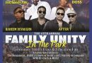 YOUR CHANCE TO WIN V.I.P. ACCESS AND KICK IT WITH THE STARS AT THE 15TH ANNUAL FAMILY UNITY IN THE PARK!